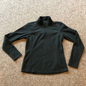 The North Face Forest Green 1/4 zip jacket shirt